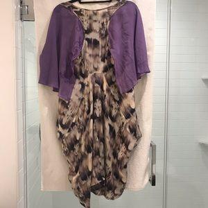 All Saints Spitalfields London Purple drapes dress